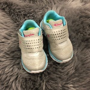 Silver, Pink,Blue Infant/Toddler Champion Sneakers